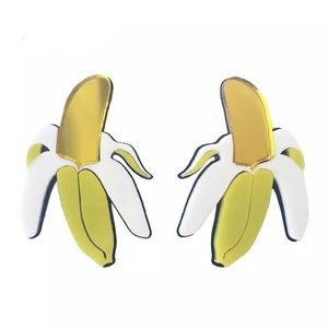 "Jewelry - ✨2/$25✨NEW EARRINGS ""mirror banana"""